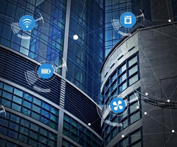 Smart connected building with iot technology