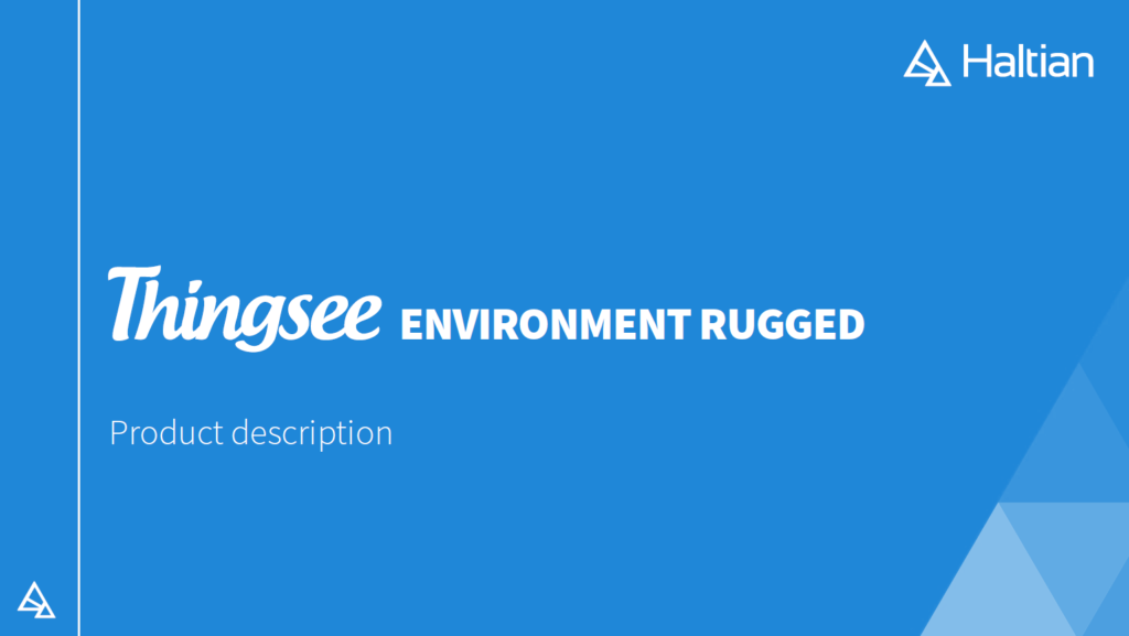 Thingsee Environemnt Rugged Product description