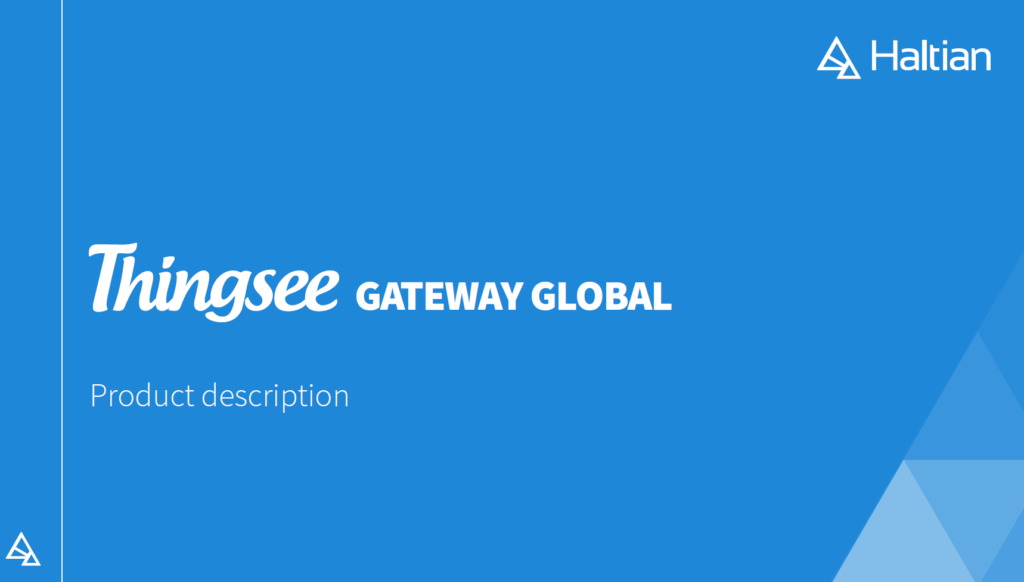 Thingsee Gateway Global Product description