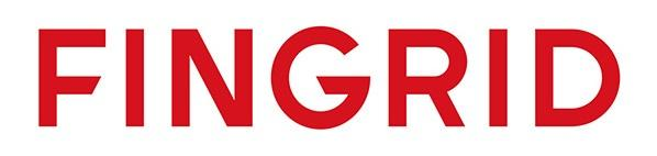 Fingrid red logo on white background