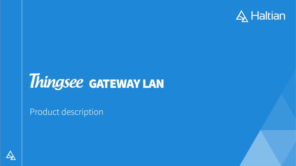 thingsee gateway lan download product description