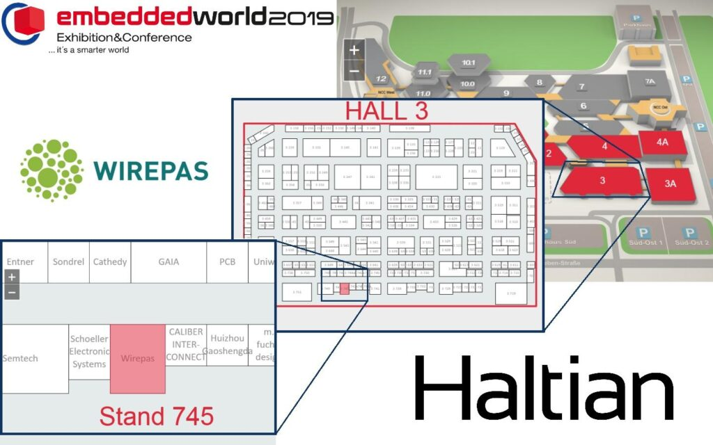 Embedded World 2019 map and location for Haltian stand