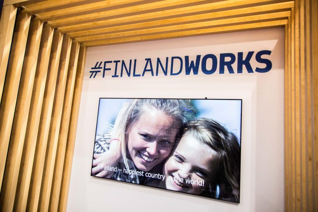 Finlandworks stand at the MWC 2019