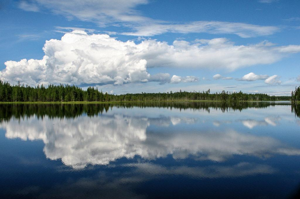 Finnish summer at a sunny lake