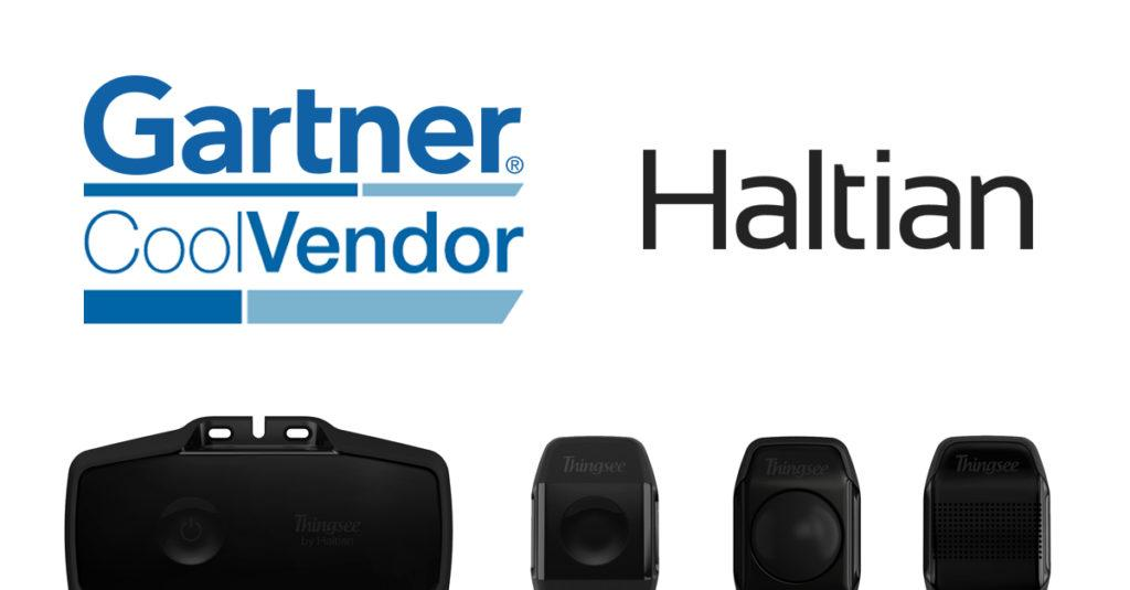 Gartner and Haltian logos with Thingsee devices