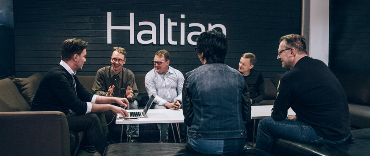 Haltian team, office, Iot, engineering, Oulu, Finland