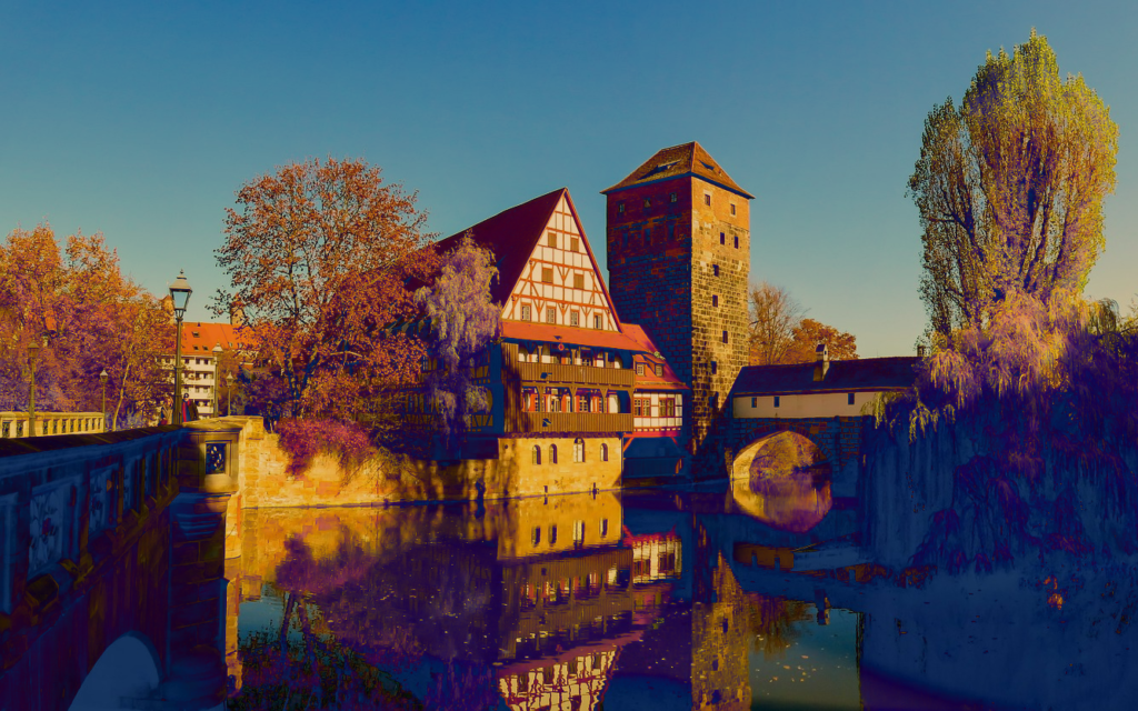 Nuremberg in sunset