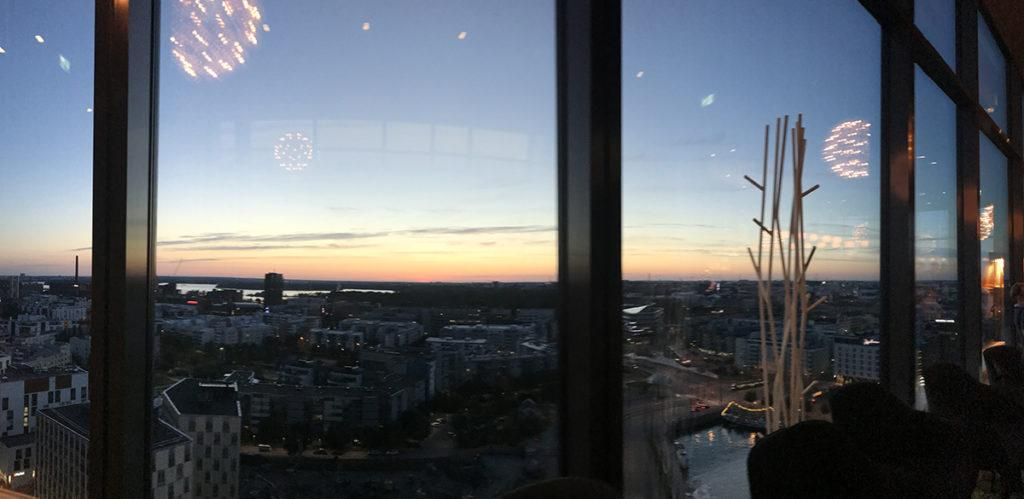 Sky bar at Clarion Helsinki, sky view