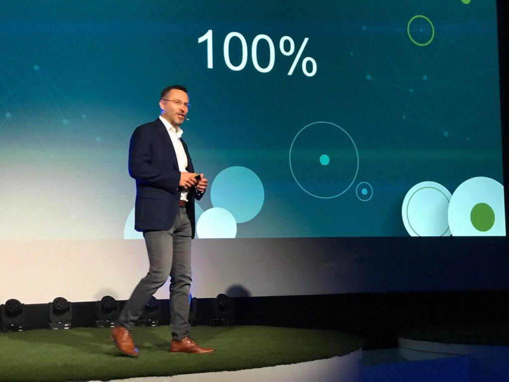Teppo Hemiä, Wirepas CEO on stage