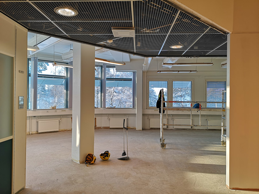 office wing during renovation