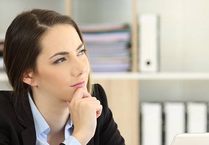 Office worker wondering when can I go back to work