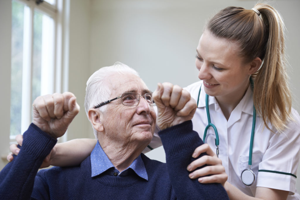 stroke patient recovery with doctor
