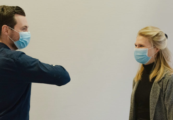 hygiene procedures with two employees